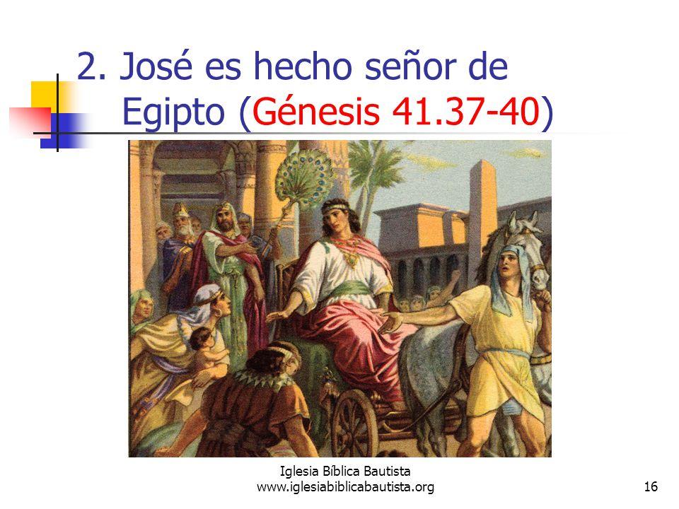 2. José es hecho señor de Egipto (Génesis 41.37-40)