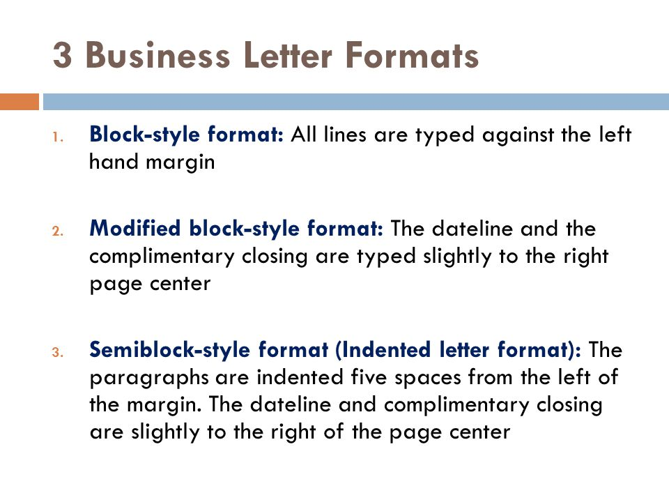 3 Business Letter Formats