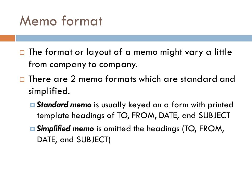 Letter  Memo  Ppt Video Online Download