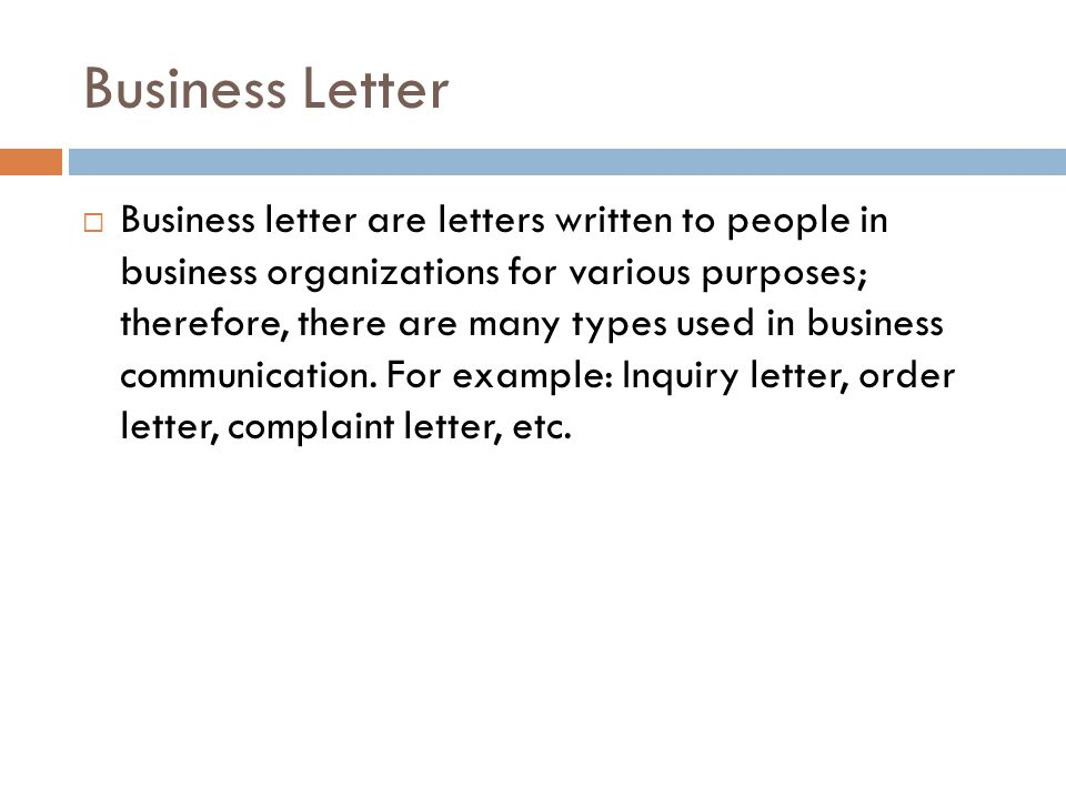 Business Letter  Inquiry Letter For Business