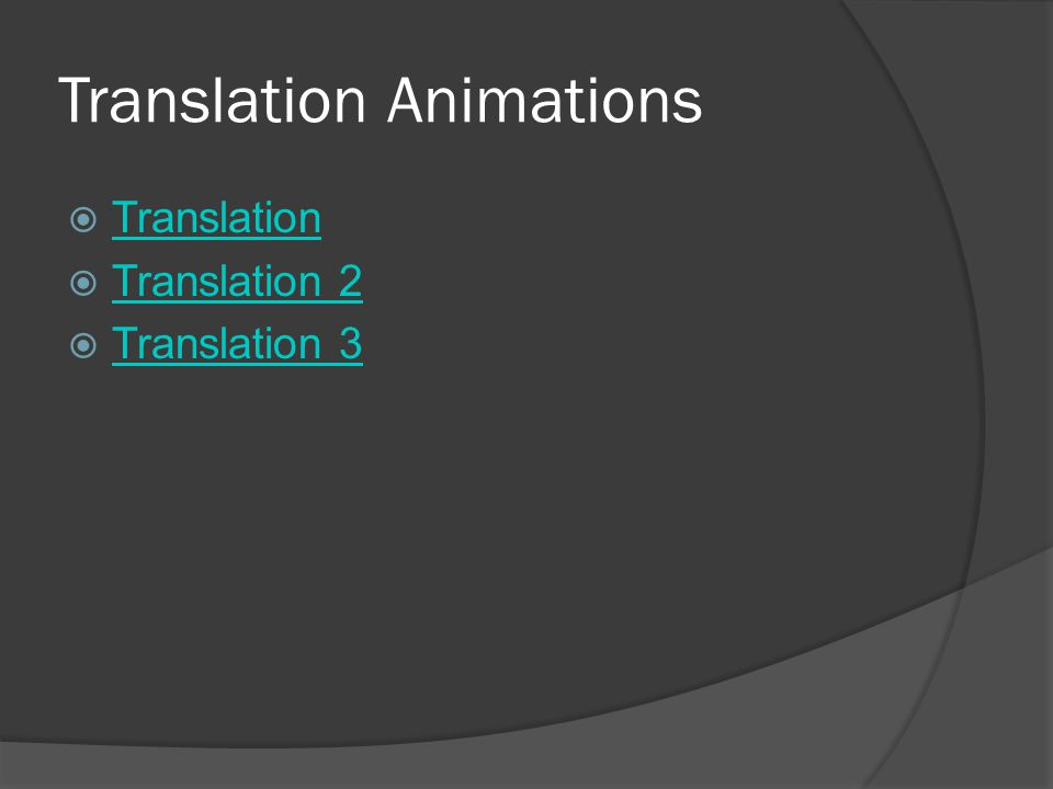 Translation Animations