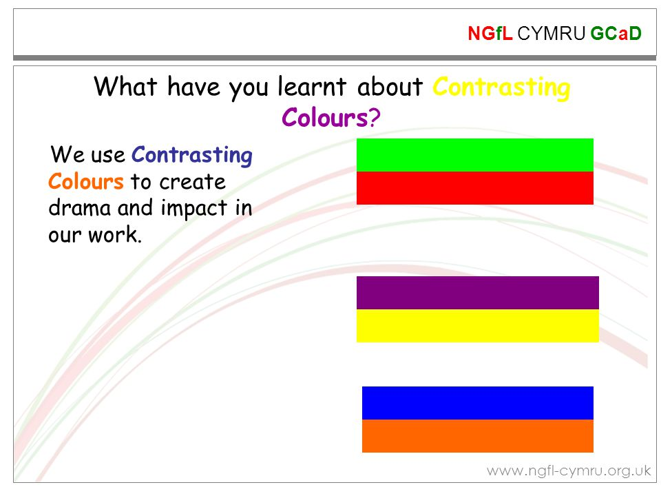 What have you learnt about Contrasting Colours
