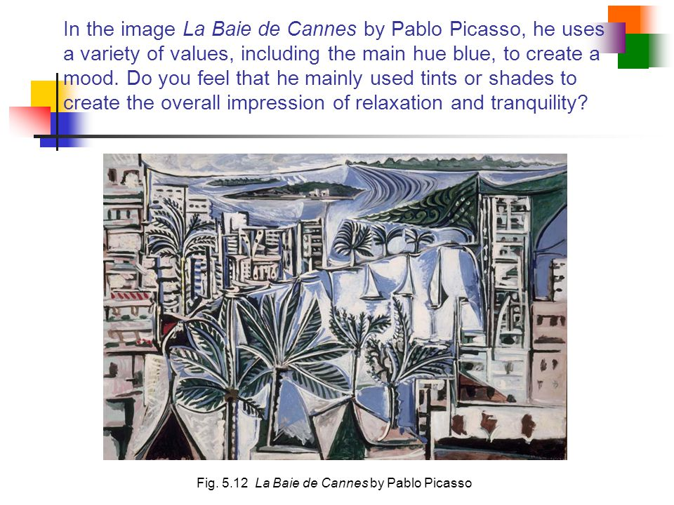 Fig. 5.12 La Baie de Cannes by Pablo Picasso