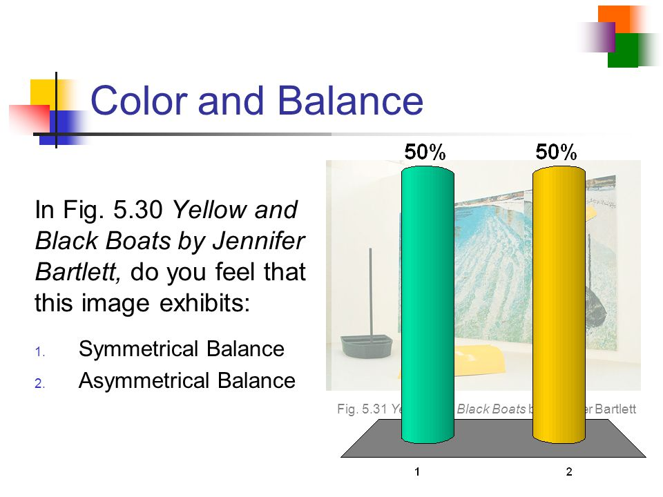 Fig. 5.31 Yellow and Black Boats by Jennifer Bartlett