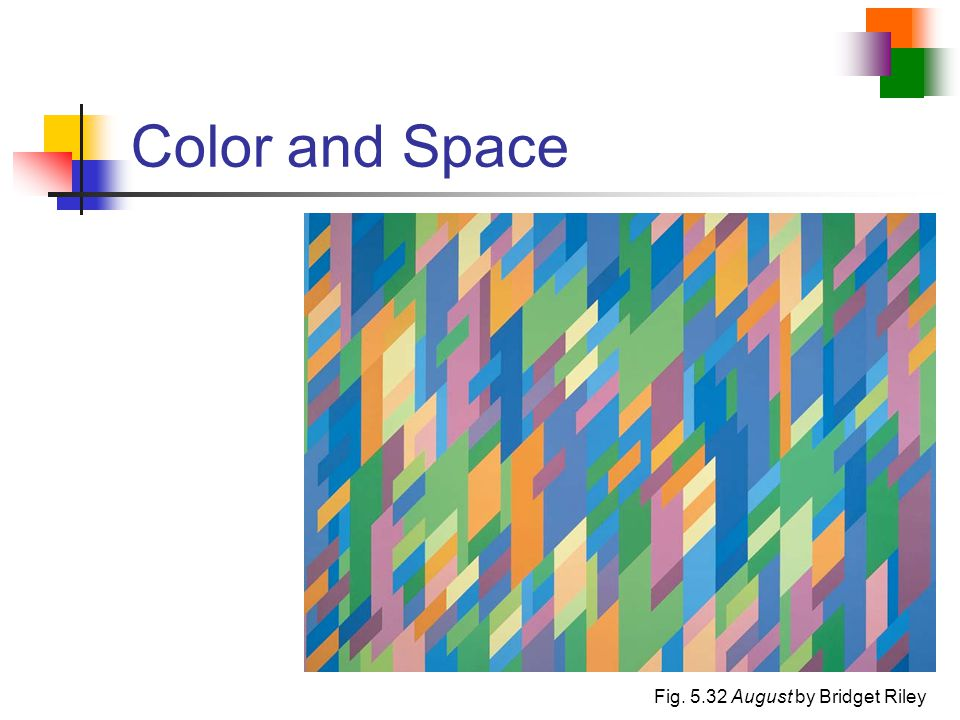 Color and Space Fig. 5.32 August by Bridget Riley
