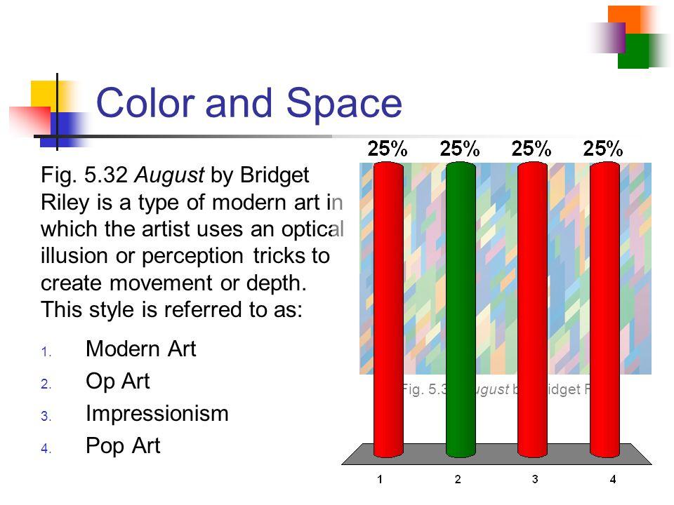 Fig. 5.32 August by Bridget Riley