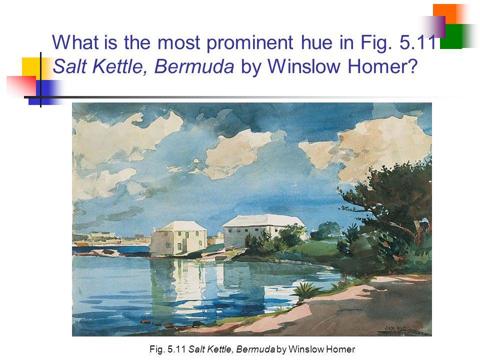 Fig. 5.11 Salt Kettle, Bermuda by Winslow Homer