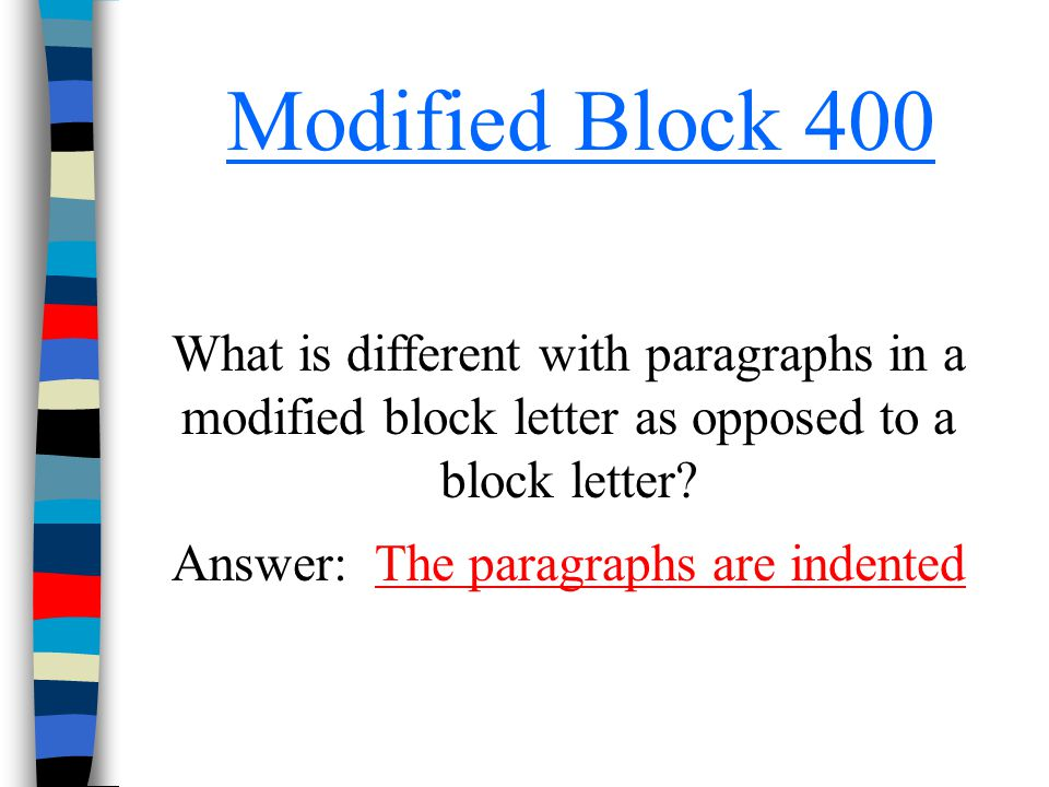 Answer: The paragraphs are indented
