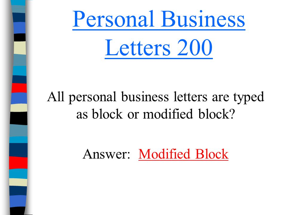 Personal Business Letters 200