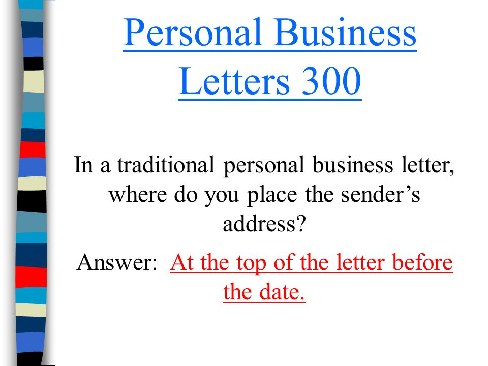 Personal Business Letters 300