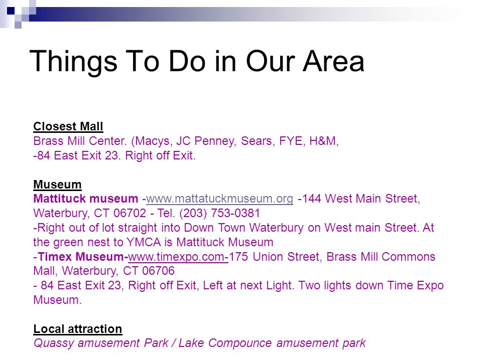 Things To Do in Our Area Closest Mall