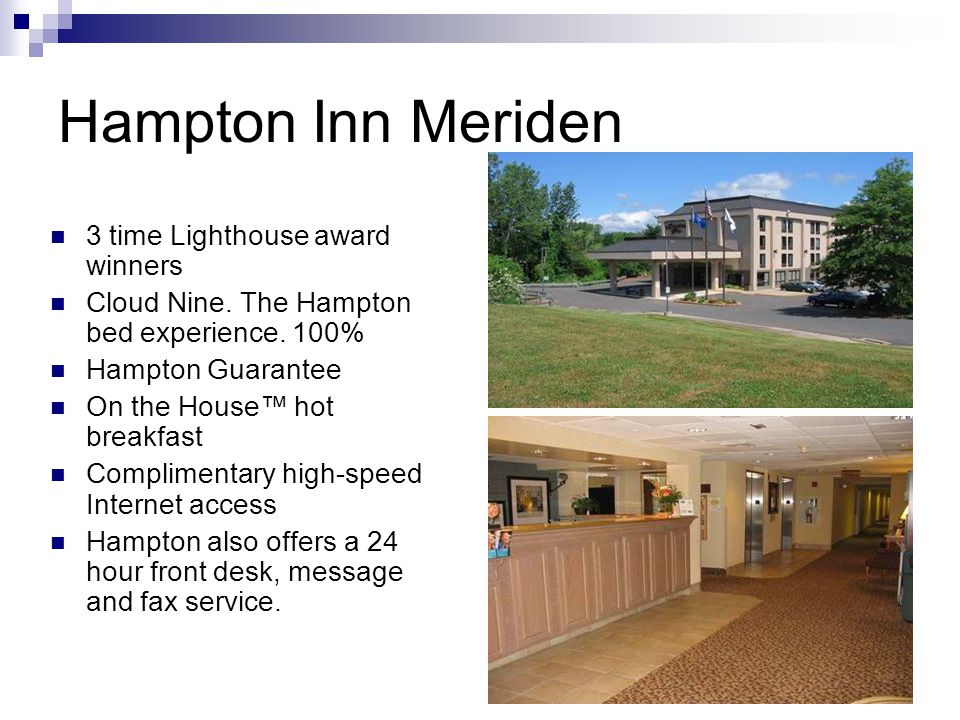 Hampton Inn Meriden 3 time Lighthouse award winners