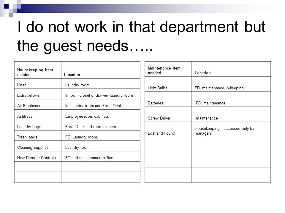 I do not work in that department but the guest needs…..