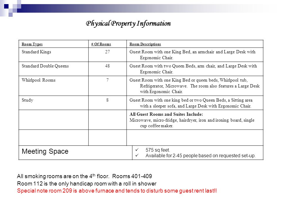 Physical Property Information