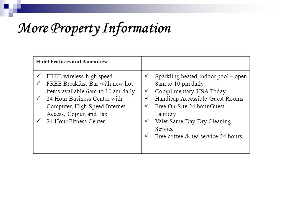 More Property Information