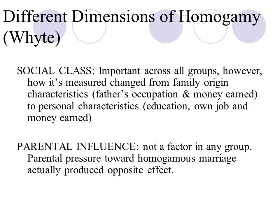 Different Dimensions of Homogamy (Whyte)