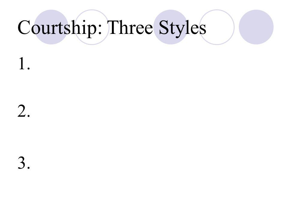 Courtship: Three Styles