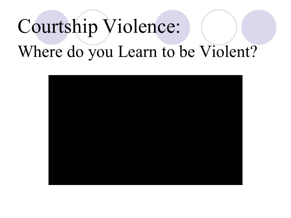 Courtship Violence: Where do you Learn to be Violent