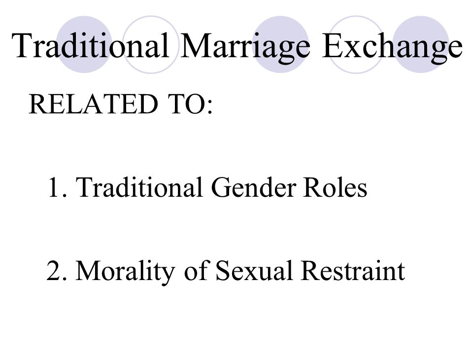 Traditional Marriage Exchange