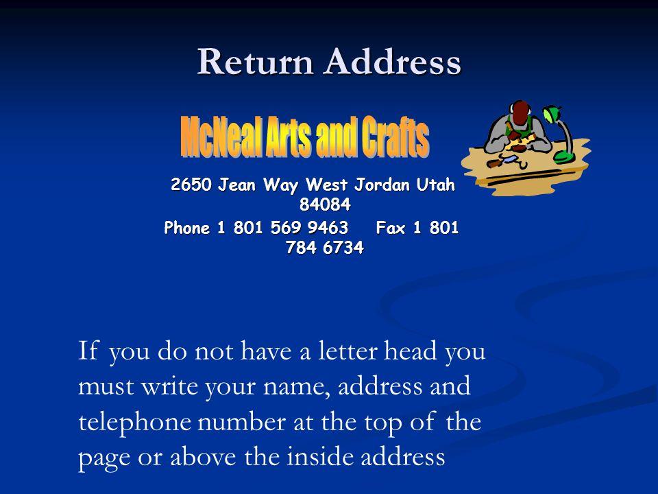 2650 Jean Way West Jordan Utah 84084