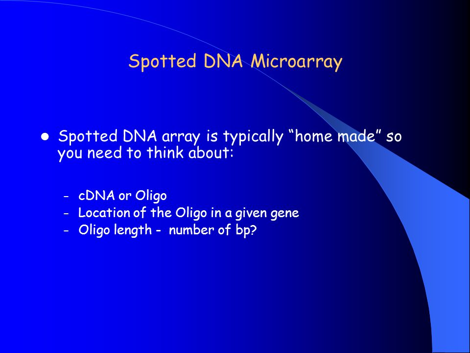 Spotted DNA Microarray