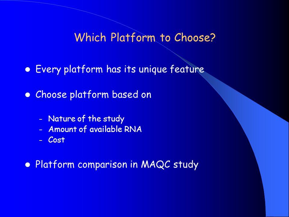 Which Platform to Choose
