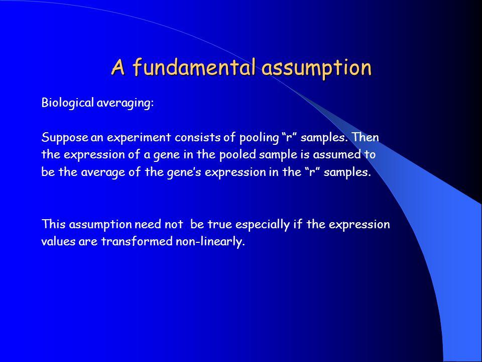 A fundamental assumption
