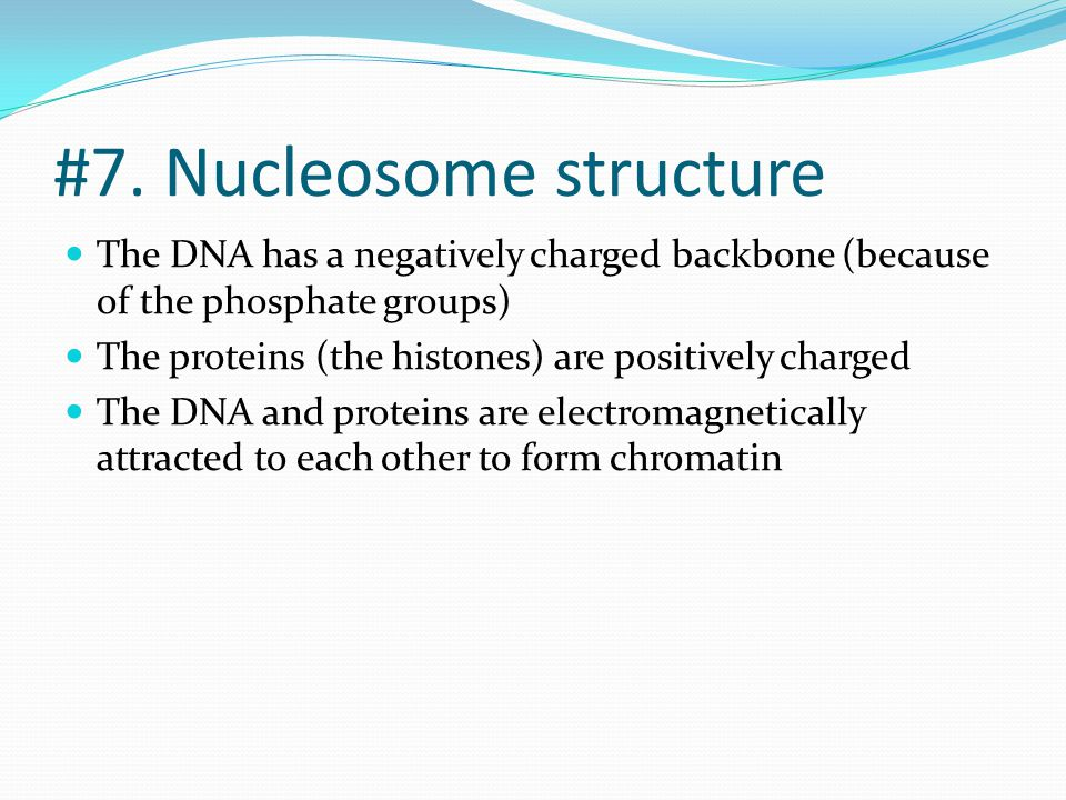 #7. Nucleosome structure