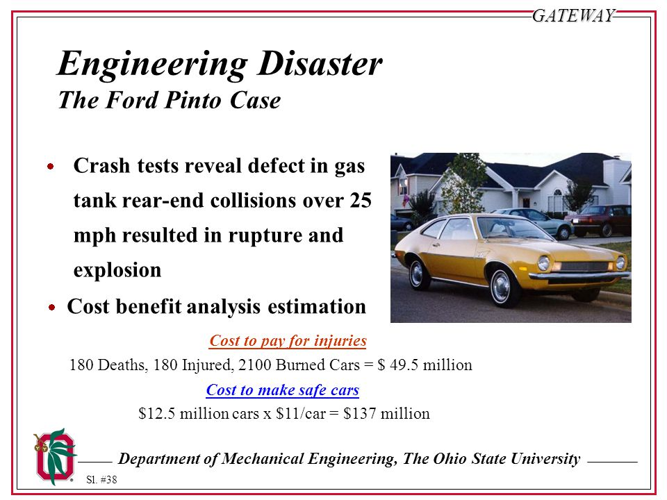 Engineering Disaster The Ford Pinto Case