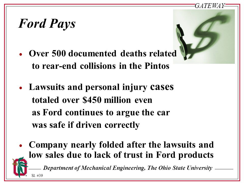 Ford Pays Over 500 documented deaths related