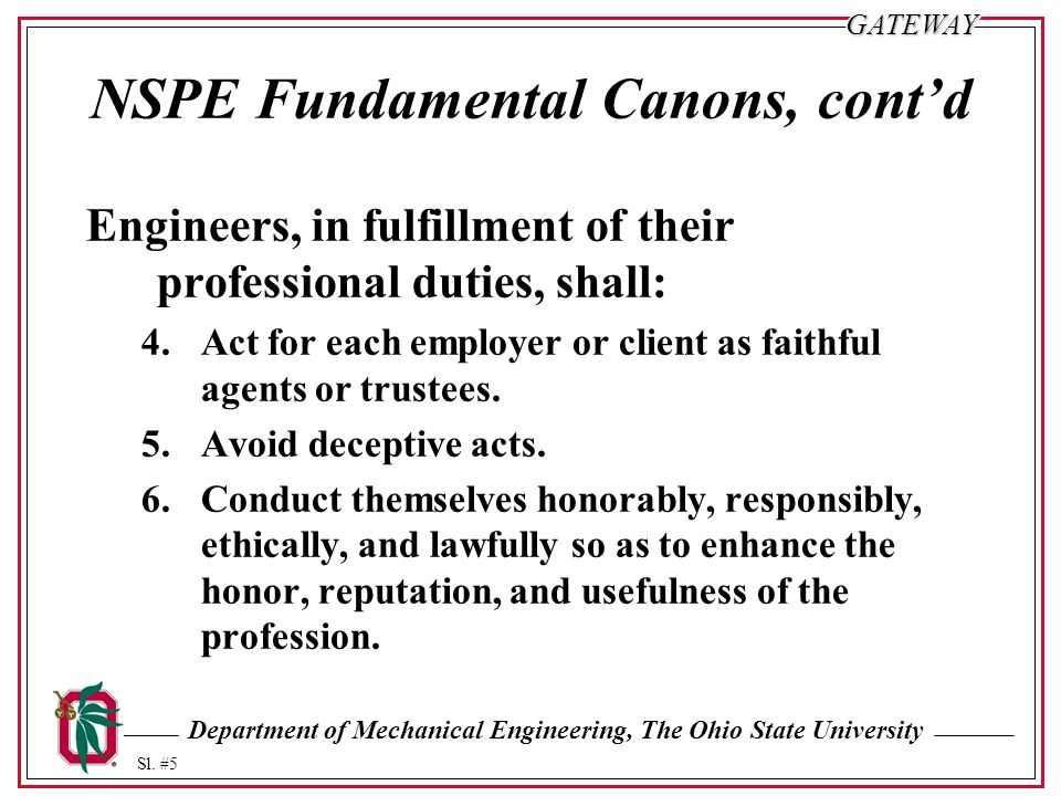 NSPE Fundamental Canons, cont'd