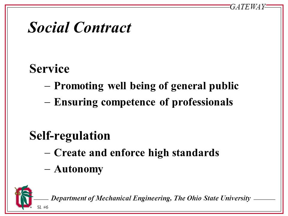 Social Contract Service Self-regulation