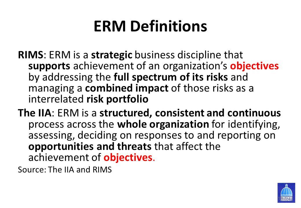 ERM Definitions