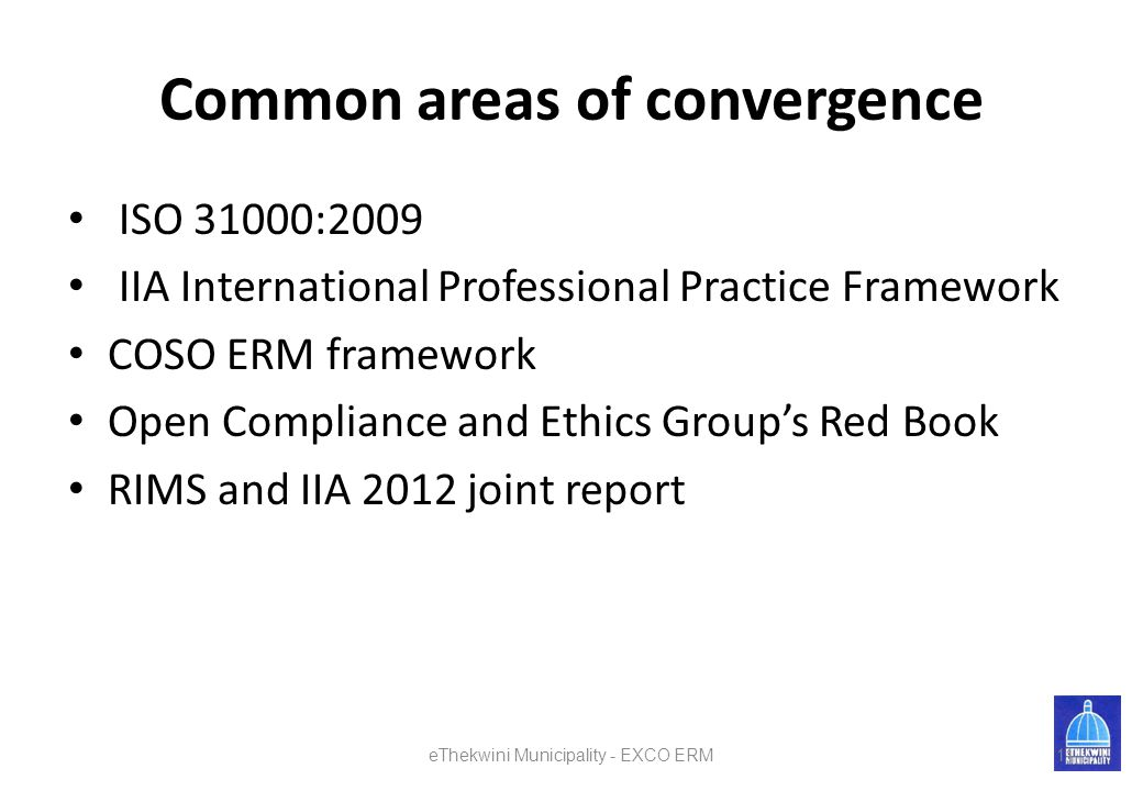 Common areas of convergence