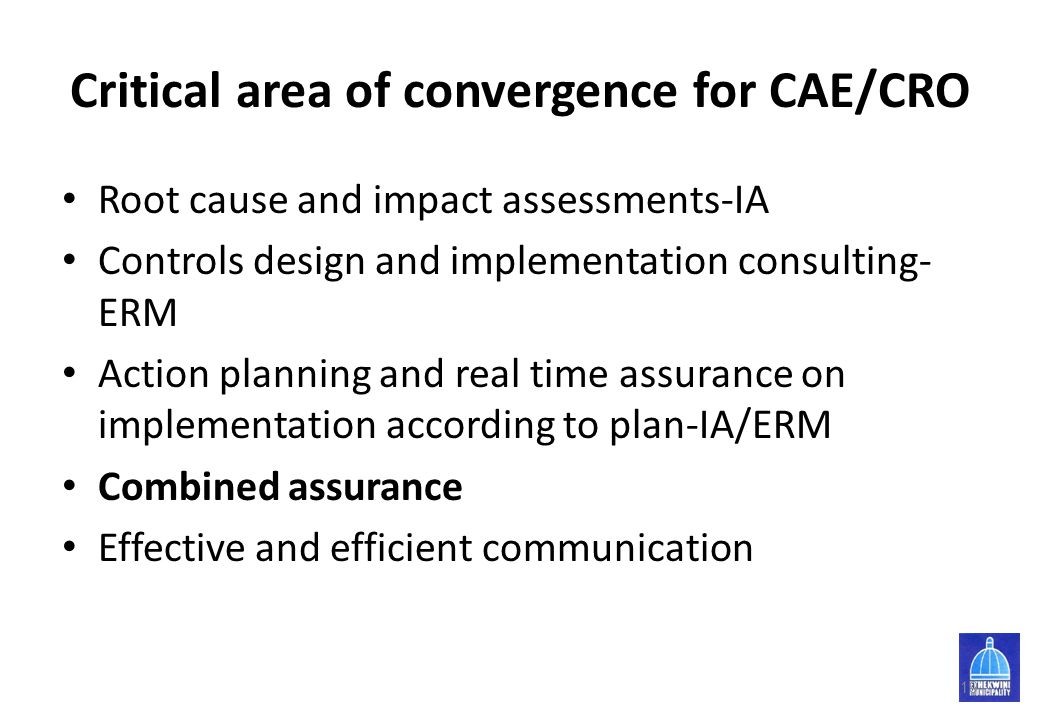 Critical area of convergence for CAE/CRO