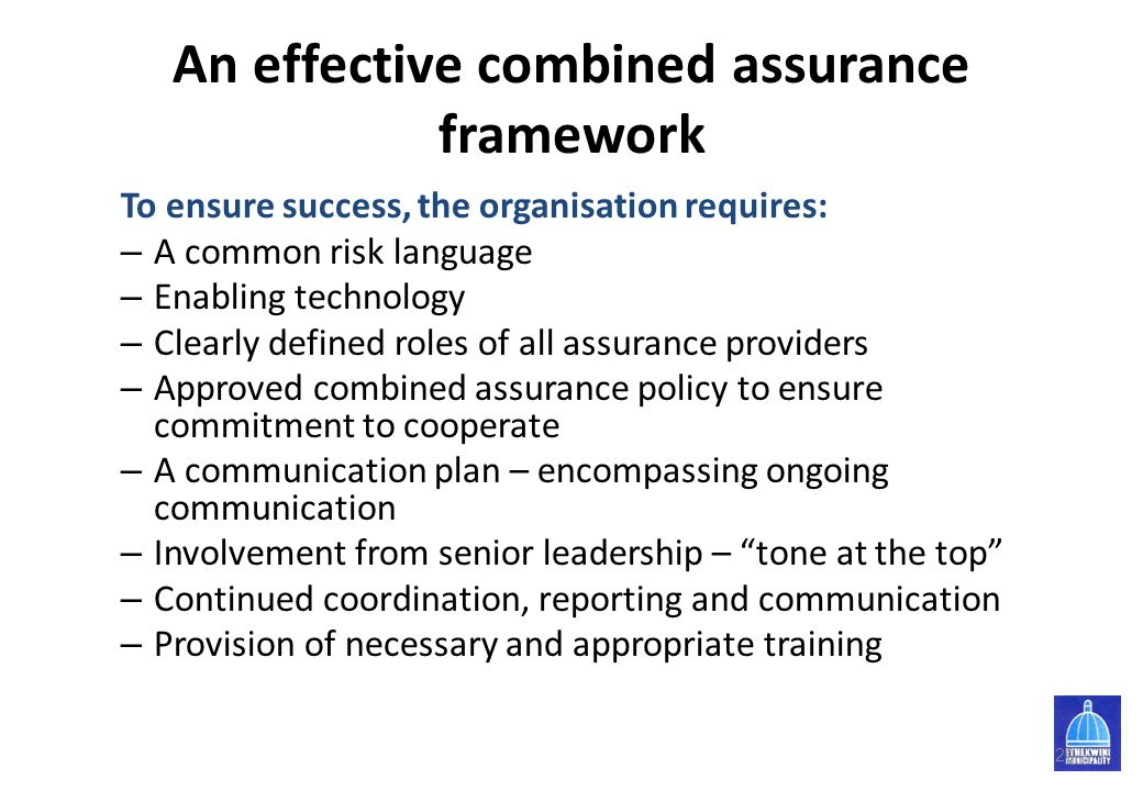 An effective combined assurance framework