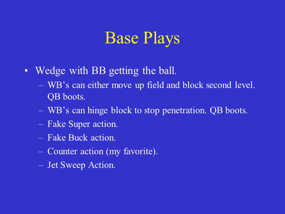 Base Plays Wedge with BB getting the ball.