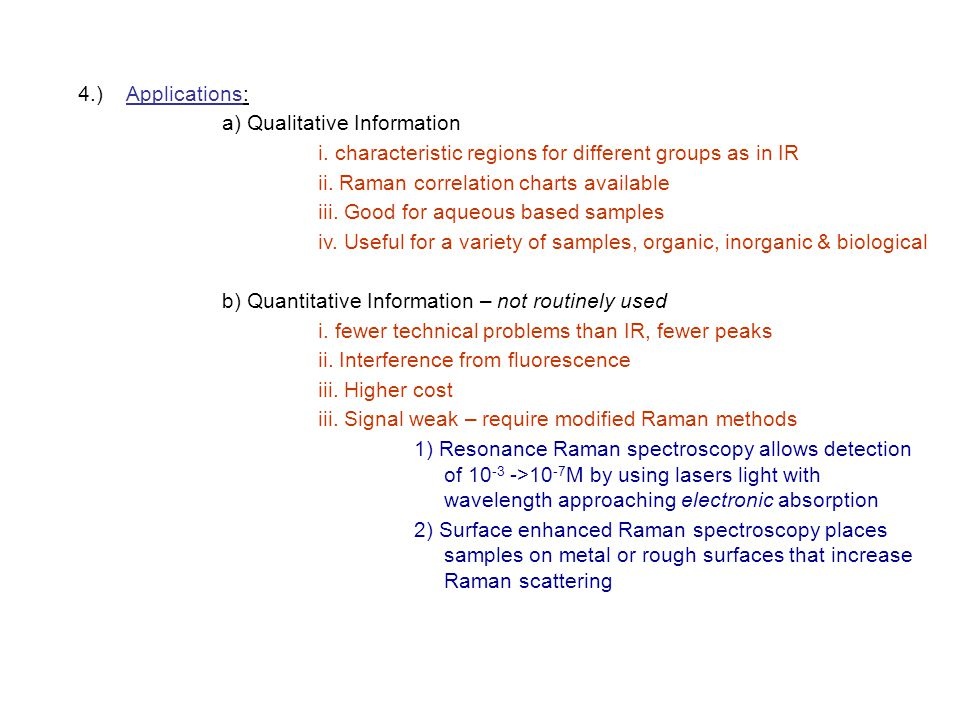 4.) Applications: a) Qualitative Information. i. characteristic regions for different groups as in IR.