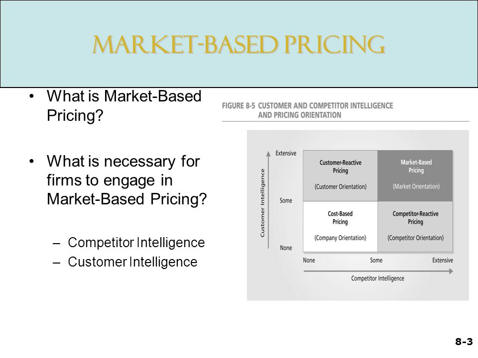Market-Based Pricing What is Market-Based Pricing