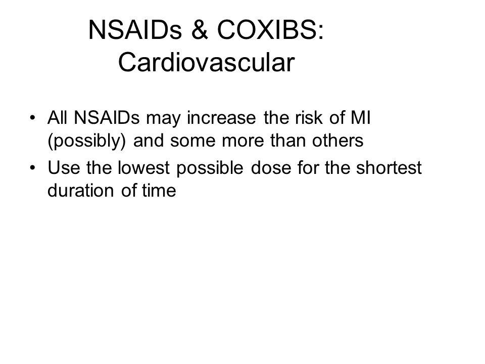 NSAIDs & COXIBS: Cardiovascular