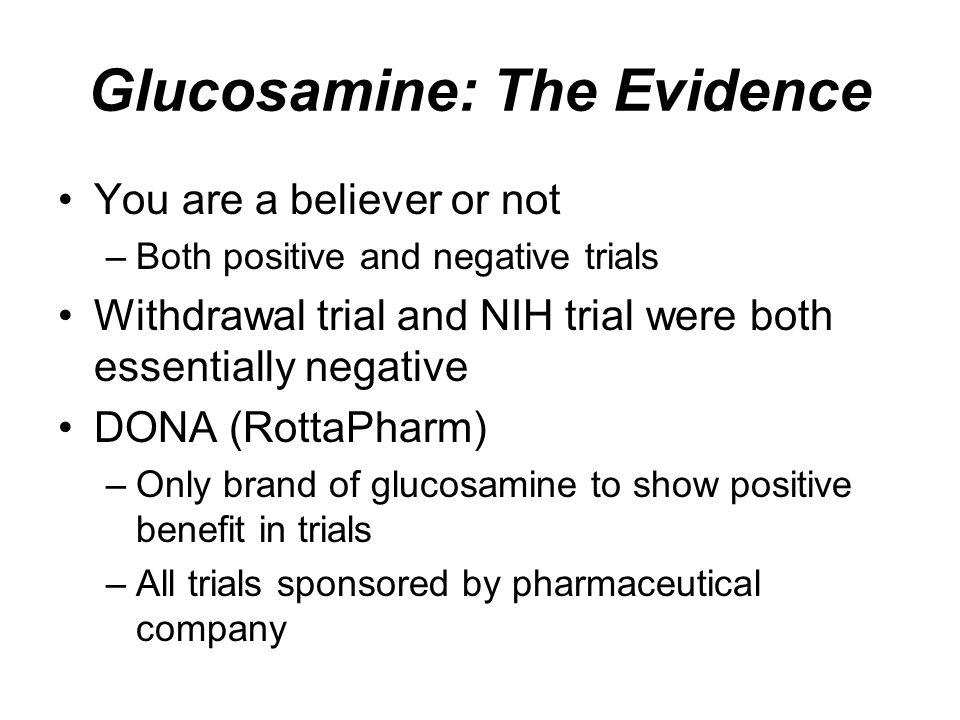 Glucosamine: The Evidence
