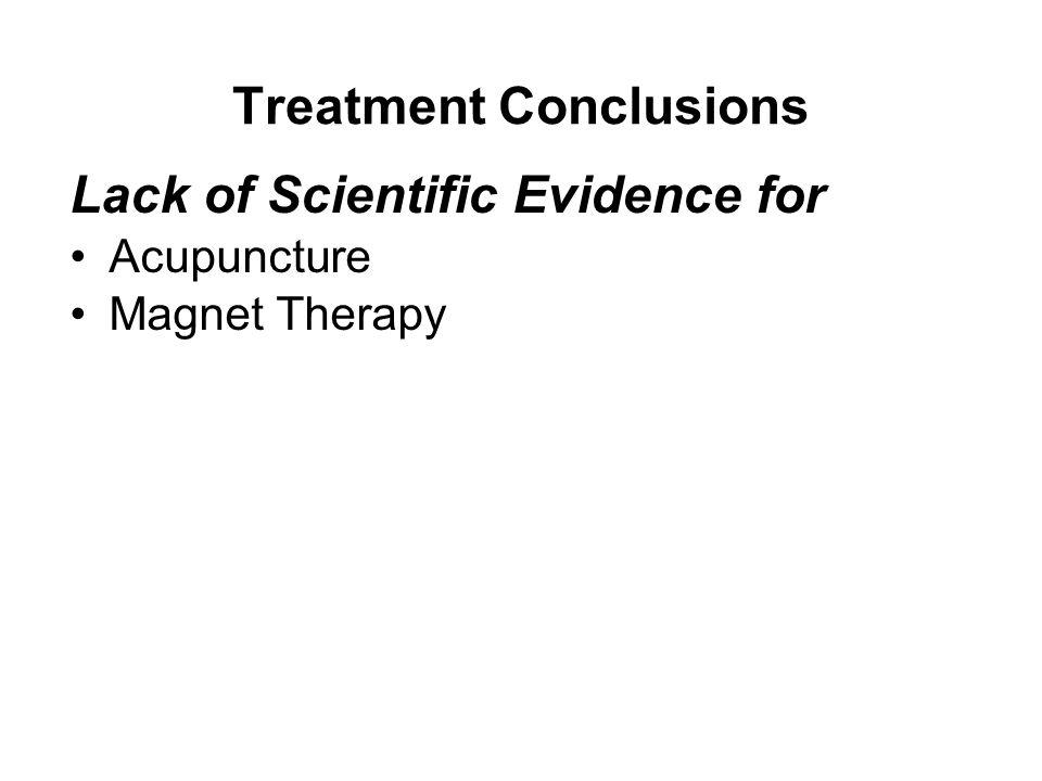 Treatment Conclusions