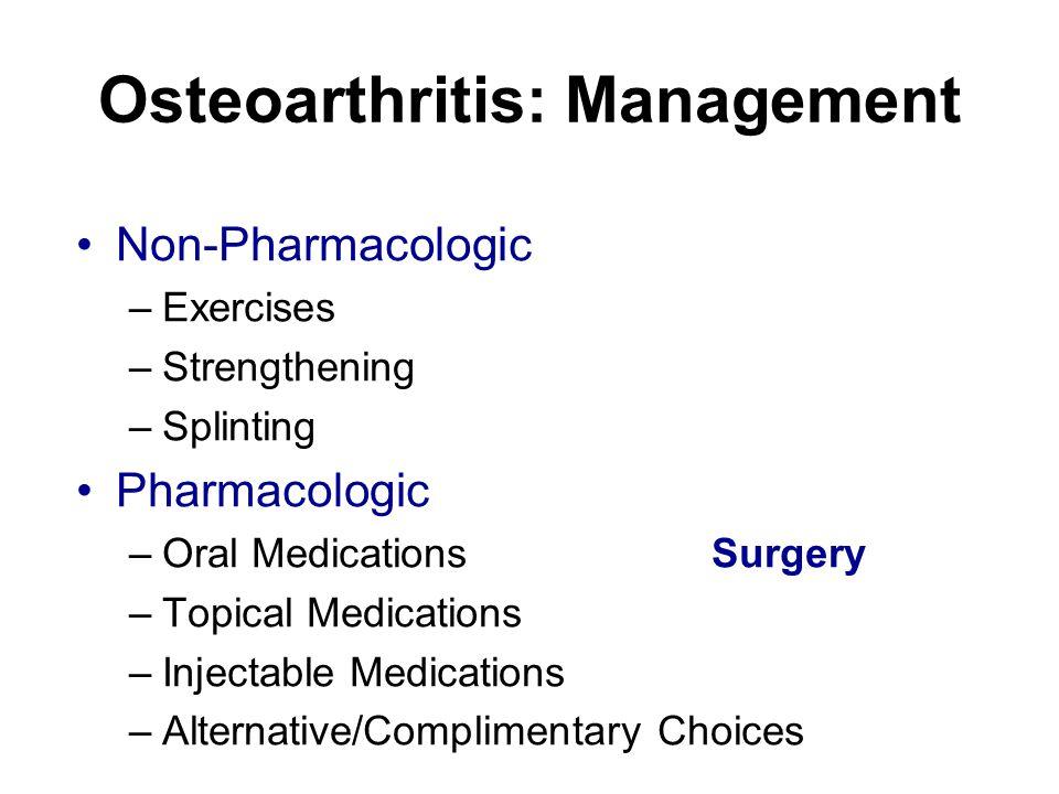 Osteoarthritis: Management
