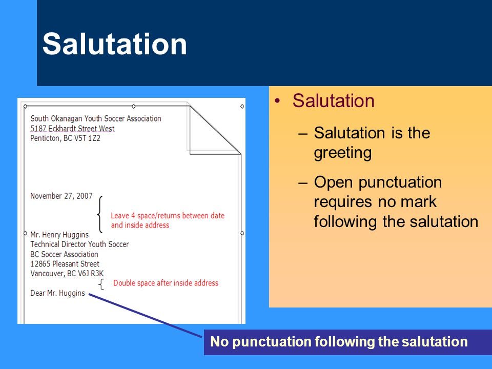 Salutation Salutation Salutation is the greeting