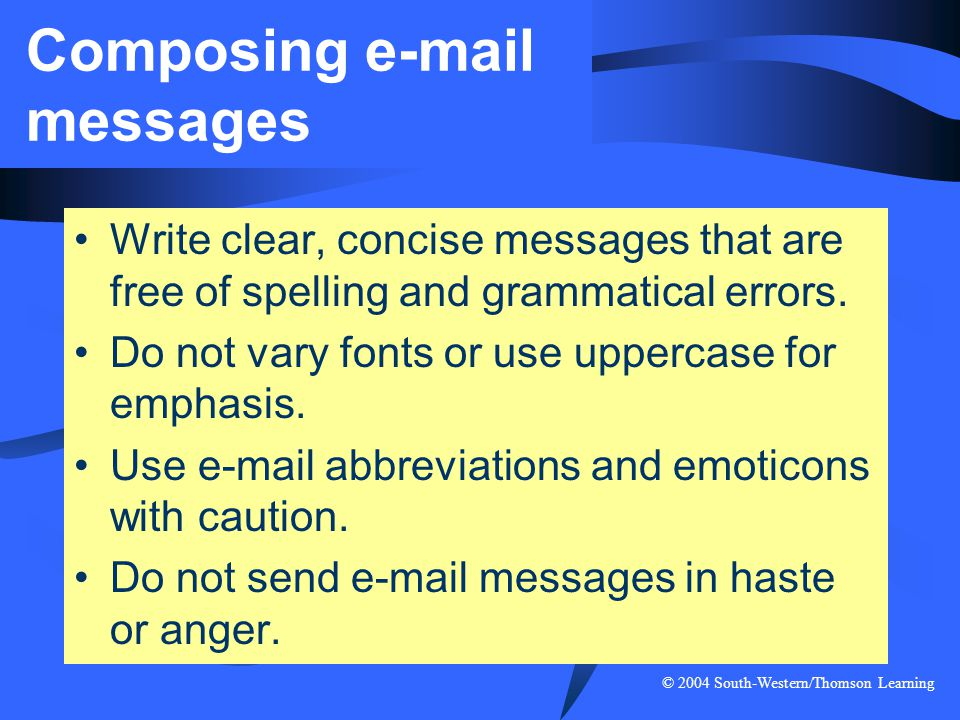Composing e-mail messages