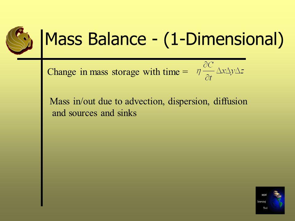 Mass Balance - (1-Dimensional)