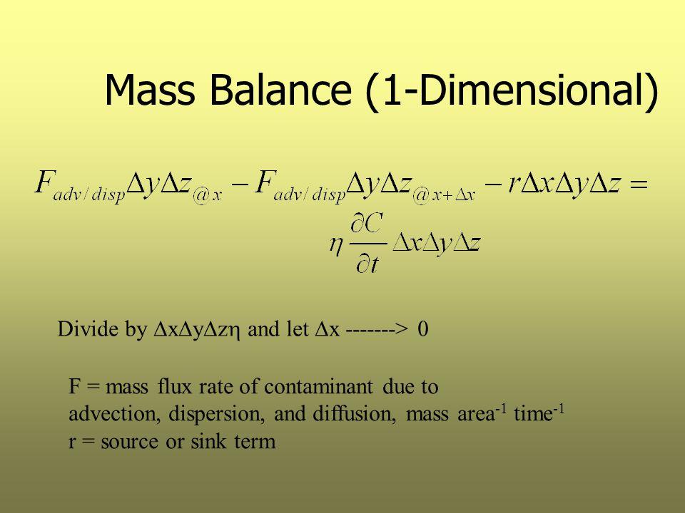 Mass Balance (1-Dimensional)