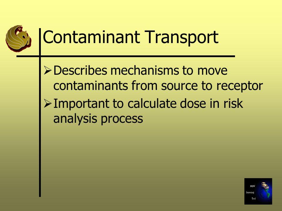 Contaminant Transport