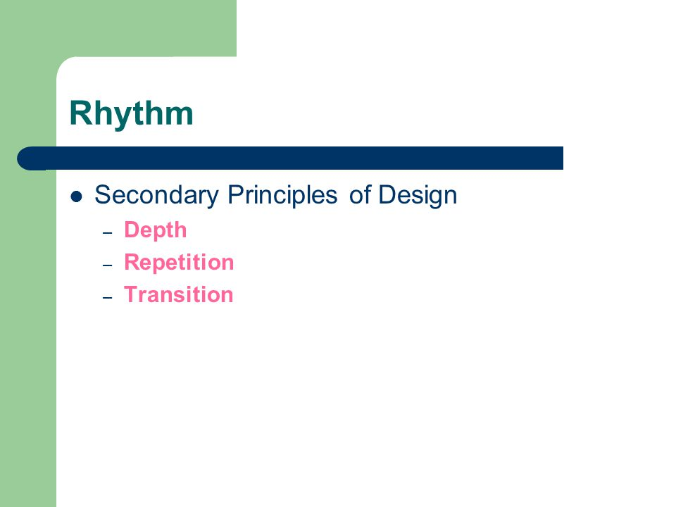 The elements and principles of design ppt download for Rhythm by transition