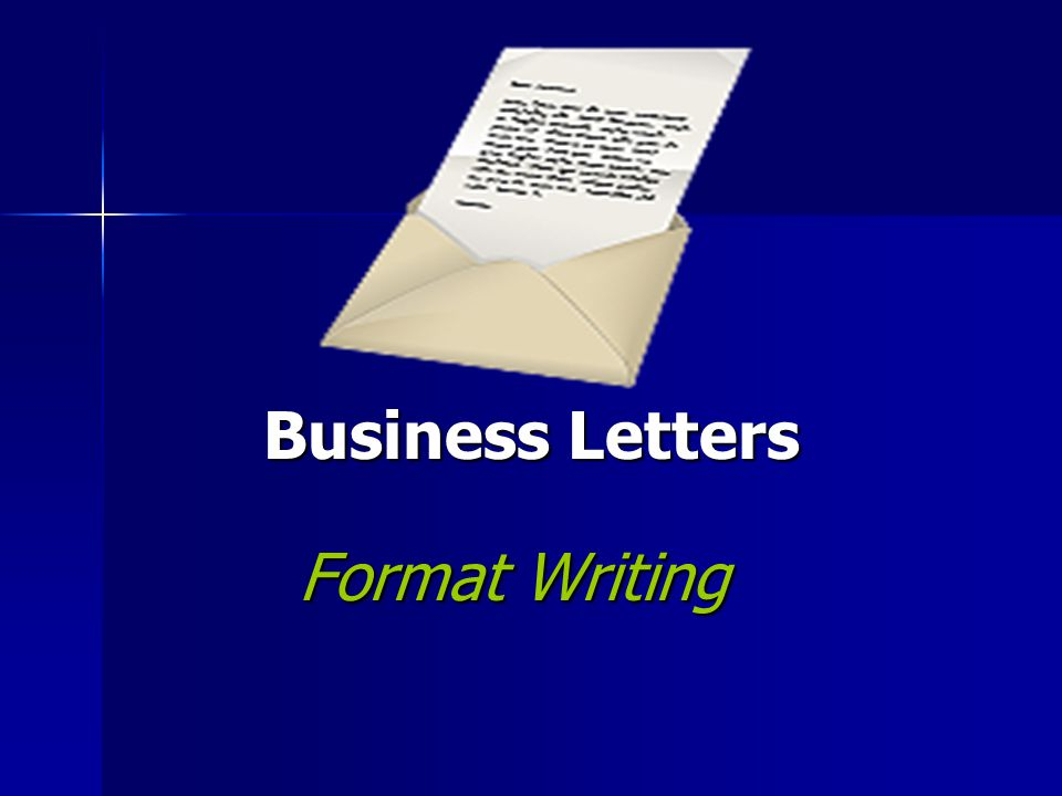 Business Letters Format Writing